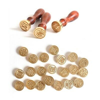 1pc Sealing Wax Classic Initial Wax Seal Stamp Alphabet Letter 26 Retro Wood Pro