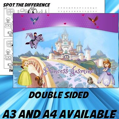 Childrens Princess Sofia the first Dinner Mat A4 / A3 sizes available Place Mat