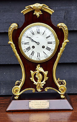 Late 19th Century Mahogany & Ormolu French Mantle Clock.