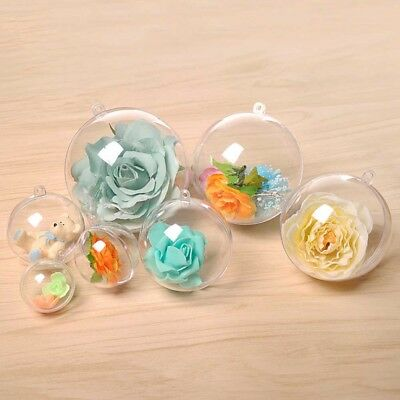 5pcs DIY bain bombe moules de Noël ornements boule de plastique transparent