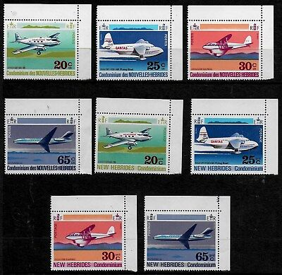New Hebrides 1972 Aircraft - MVLH - both English & French Issues