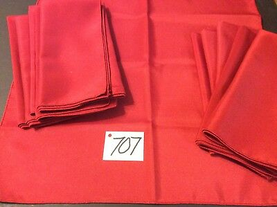 12 Beautiful Christmas Dinner Napkins  Burgundy Red