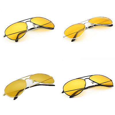 Classic Pilot Frame Yellow lens Night Driving Sunglasses Glasses Four Styles
