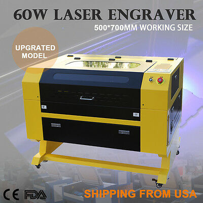 Premium 60W CO2 Laser Engraver Cutting Machine w/ USB Interface Crafting New