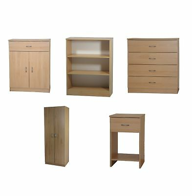 Beech effect chest of drawers picclick uk for Beech bedroom furniture