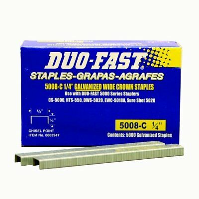 Duo Fast 5008C 20 Gauge Galvanized Staple 1/2-Inch Crown x 1/4-Inch Length 50...