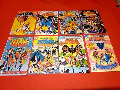 NEW TEEN TITANS 1 2 3 4 5 6 9 10 1st App DEATHSTROKE TRIGON RAVAGER FEARSOME 5