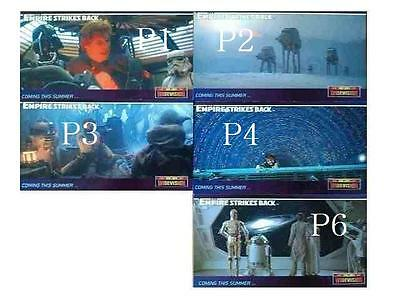 Star Wars 5 The Empire Strikes Back Widevision Promo Card Lot - Topps 1995