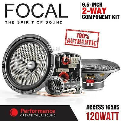 """New Genuine FOCAL ACCESS 165AS 6.5"""" 120W 2-Way Car Component Kit Speaker System"""