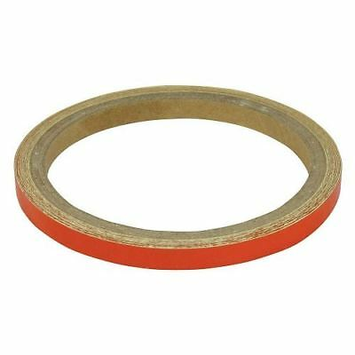 BikeTek Motorcycle Wheel Stripes Orange 7mm Tape Motorbike Scooter New