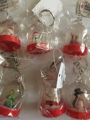 Christmas Waterball Keychains Various Designs
