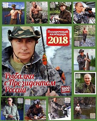 2018 New Original Wall Calendar With Fishing Of Russian President Vladimir Putin