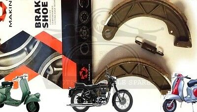 LAMBRETTA  LI TV SX BRAKE SHOES FRONT OR REAR WITH SPRING MAKINO @AEs