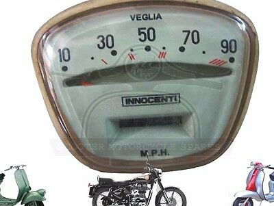 NEW LAMBRETTA SPEEDOMETER LI TV SERIES 3 90 MPH VEGLIA @AEs