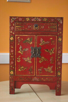 Vintage Chinese Red cabinet