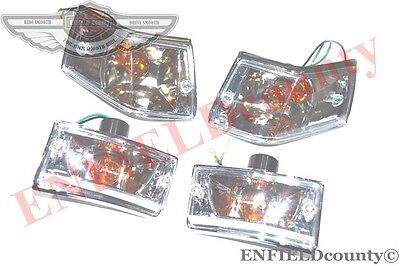 VESPA CLEAR LENS TURN SIGNAL INDICATOR LIGHT 4 UNITS PX LML SCOOTERS @AEs