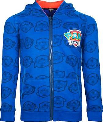 Paw Patrol Hoodie 100% Cotton Hooded Jumper Top Ages 2 To 6 Years