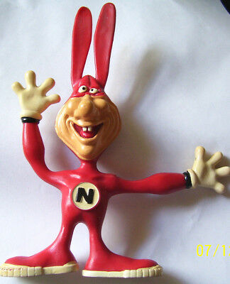 "Early VINTAGE 1986 DOMINOS Pizza ""THE NOID"" Rubber Bendy Figure"