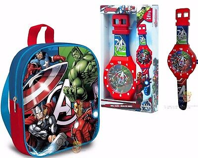 Avengers nursery backpack plus wall clock for childrens room Original and Safe