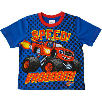 Boys Blaze And The Monster Machines T-Shirt 100% Cotton Summer Tshirt Top