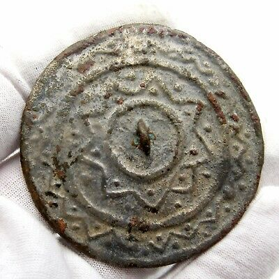 Medieval Decorated Pewter Mirror - Historic Artifact Stunning - P473