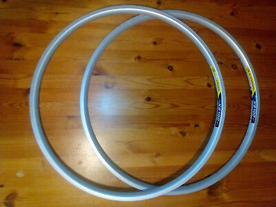 "Pair of 26"" MTB disc rims 32H 559x19 Alex X2100 VGC"