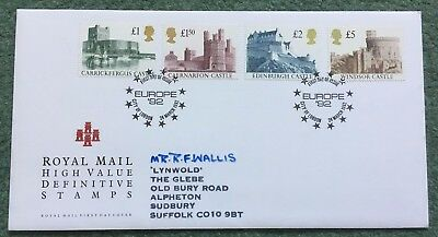1992 Castles First Day Cover/FDC. postmark City of London