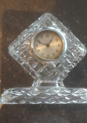 vintage crystal clock