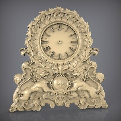 (891) STL Model Clock for CNC Router 3D Printer  Artcam Aspire Bas Relief