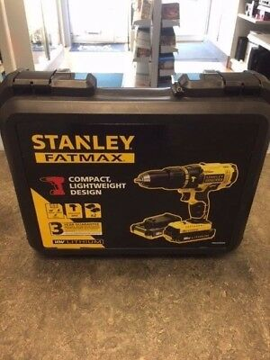 Stanley FATMAX FMC626D2K 18V Hammer Drill with 2x 2.0Ah Li-ION Batteries NEW