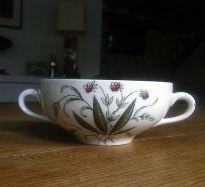 1950s 1960s Alfred Meakin Hedgerow Double Handled Soup Bowl 11.5cm diameter