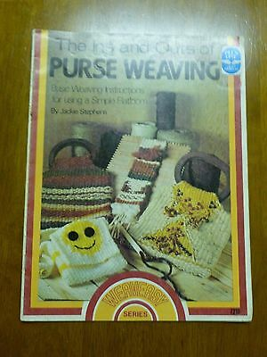 *VTG*The Ins and Outs Of Purse Weaving By Jackie Stephens #7215 (1977)*