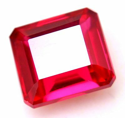 AGSL Certified 11.95 Ct Natural Blood Red Ruby Emerald Cut Amazing AAA+ Gem