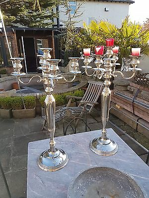 Pair Of Contemporary Large Candlesticks