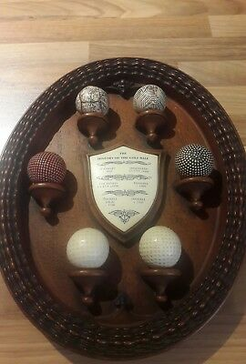 history of golf plaque
