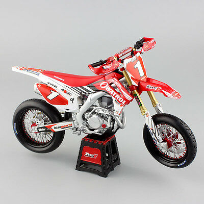 1 12 HONDA HRC OWATROL CRF450R SUPERMOTO CHAMP MODEL Luc1 motorsport Dirt toy