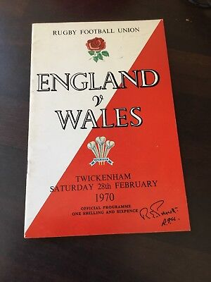 Official England V Wales Official Rugby Programme 28th February 1970