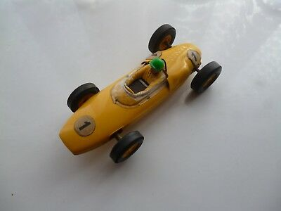 Lotus Yellow C/63 Scalextric 1960 Tested Nice Car