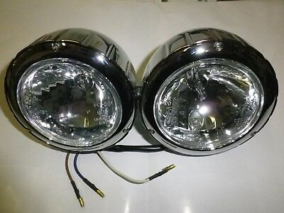 Doppio Faro Anteriore Moto Cafe Racer,custom,naked-Couple Headlights Motorcycle