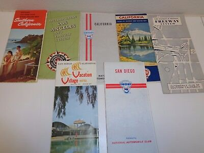 Vintage Lot Southern California Maps Guides