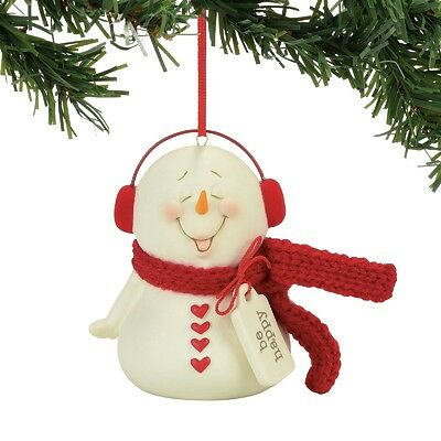 Department 56  Snowpinions Be Happy Christmas Ornament New 2017 !