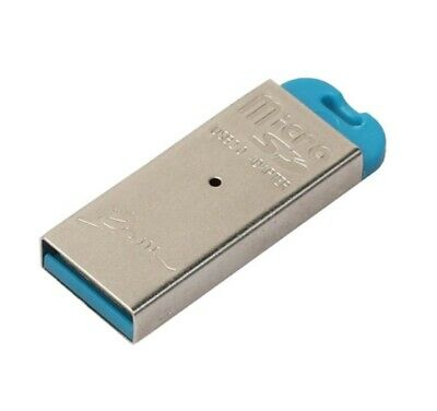 ADATTATORE LETTORE scheda MICRO SD TF a USB card reader memoria Flash foto video