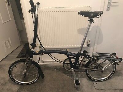 Brompton 2017 H2L-X Titanium With Extras £2200 New Worldwide Shipping Available