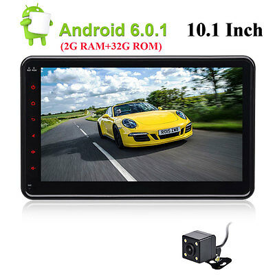 Android 6.0 GPS Navi Car Stereo Radio Quad Core 2 Din 10.1 INCH 1024*600