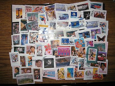 Forever Commemorative Stamps, US, Used, 60+ , On Paper, Plus 2 Bonus (Lot 321A)