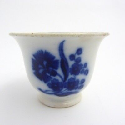 19Th Century Minton Blue And White Porcelain Bell-Shaped Custard Cup, Bb Mark