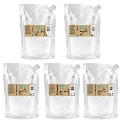 Naissance Aloe Vera Gel 5 x 1kg Cooling Soothing & Hydrating All Skin Types