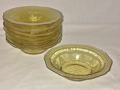 """8 Federal PATRICIAN AMBER * 5"""" BERRY BOWLS*"""
