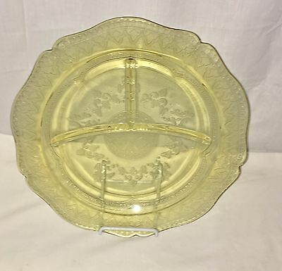 """Federal PATRICIAN AMBER * 10 1/2"""" GRILL PLATE*"""