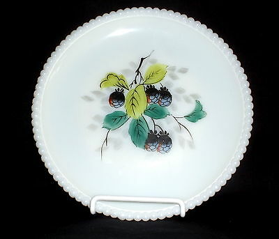 "Westmoreland BEADED EDGE FRUITS RASPBERRIES *7 1/4"" SALAD PLATE*BE-17"